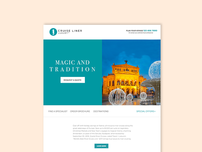 Luxury cruise liner newsletter ctas email dailyui travel luxury