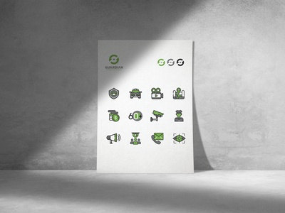 Guardian Integrated Security Iconographic Set illustration illustrator iconography icons user experience web design graphic design trpeskidesign trpeski design ognen trpeski