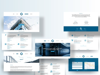 OpenColo Website Sections trpeskidesign services page homepage main banner paragraphs titles footer buttons contact illustrations iconographic services icons banners headers web pages pages web sections interfaces interface