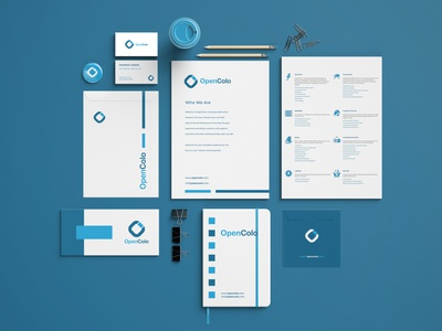 OpenColo Brand Identity System logodesign presentation identity california tech technology servers development exploration marketing experience trpeskidesign web design trpeski design ognen trpeski