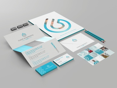 Clear Diagnostics Brand Identity System layout patterns textures medical lab showcase brand system brand book sky blue healthcare brand healthcare identity medical logo medical brand logo branding web design trpeskidesign trpeski design ognen trpeski