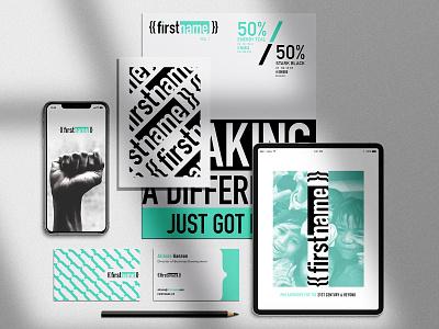 {{firstname}} Brand Platform graphic design flat design branding technology ognen trpeski trpeskidesign logodesign startup branding brand identity branding design brand donations philanthropy fundraise