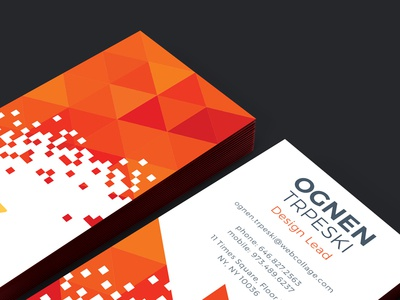 Webcollage Corporate Business Cards