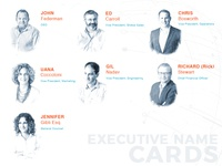 Executives Name Cards