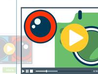 Video Player Vector Illustration