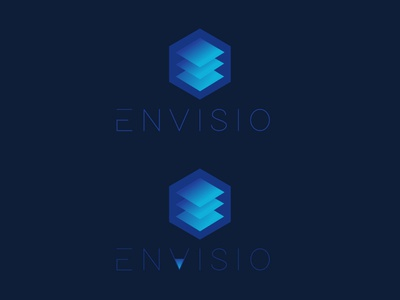 Top or Bottom futuristic modern cloud platform ognen trpeski trpeskidesign branding layers hexagon blue squares vector shapes flat design logo design iconography