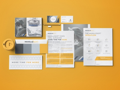 MaxilloSoft Company Branding software design technology software brand image branding agency logo design envelope ognen trpeski trpeskidesign medical surgeon dental branding concept visual design business card brochure letterhead branding identity branding design branding