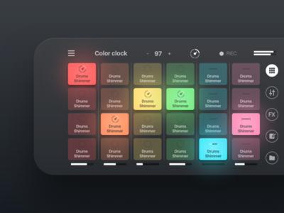 Remixlive - Remix loops with pads loops samples pads sketch remix flat music dj iphone ios app ui