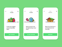 iOS app - Fruits and veggies UI illustrations