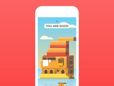 iOS game design - UI and illustration mobile designer design iphone ios ux ui app flat sketch game illustration
