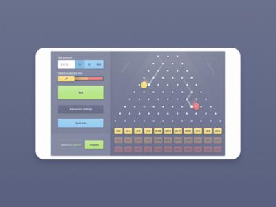 Responsive web game - Plinko gambling