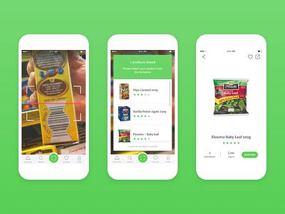 Spoon Guru - Food scanner function health fitness nutrition green spoon ui ux food vegan branding scanner app