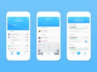 iOS banking app - UI keyscreens