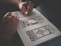 iOS social network - UI sketches