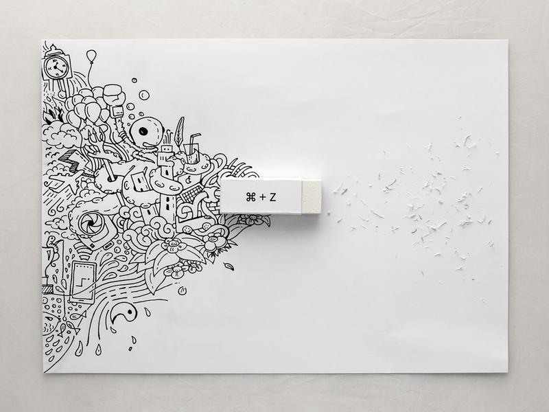 Erase and Rewind. concept artwork illustration photography