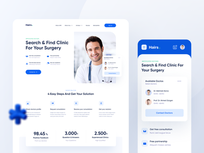 Clinic Landing Page mobile app landing page landingpage clean ui medicine medical app doctor medical clinic