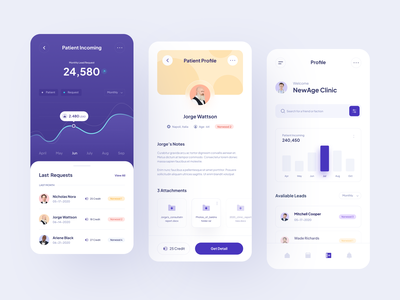 Dashboard Mobile View profile finance payment graphic statistic patient doctor clinic dashboad cards ui cards mobile design mobile app mobile