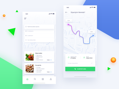 Food delivery track page map tracking shopping design food app ios organic restaurant payment app credit card e-commerce ecommerce food delivery food