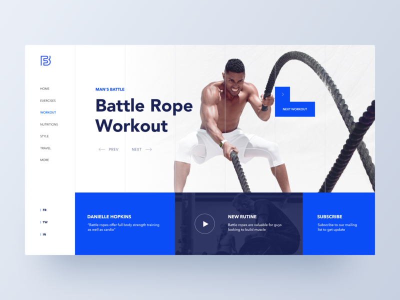 Fitness Hero Concept workout header fitness