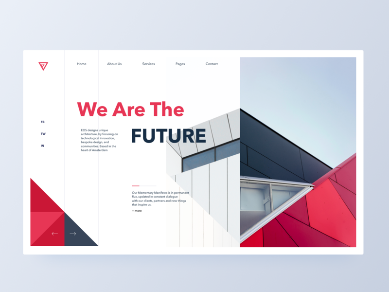 Architecture header concept art landing page building architechture