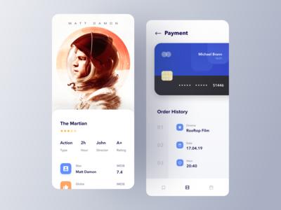 Movie ticket app payment