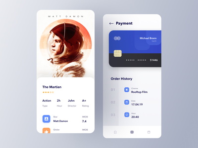 Movie ticket app payment mobile app booking checkout payment movie app movie cinema