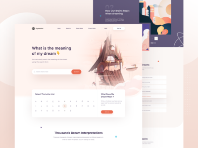 Dream Book Landing Page