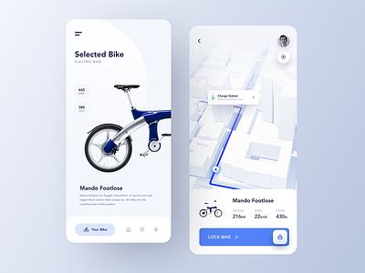 Bike Rent App rental app rent navigation mobile app mobile booking bike