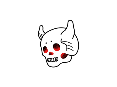 Calaverita Con Cuernos demon merch illustration calaverita horn skull