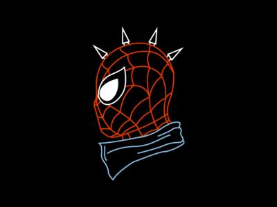 Spider ❌ Punk !🕷🕸 super hero illuatration merch punk spider man