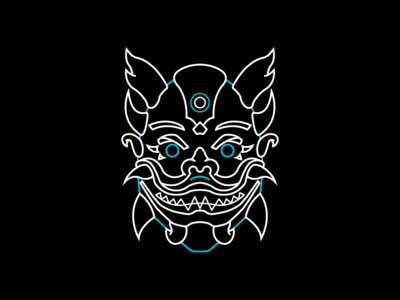 The Demon Mask 🔥👹 merch design illustration spider-man mask demon
