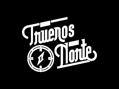 Los Truenos Del Norte north thunder band logo lettering compass typography merch brand logo design illustration