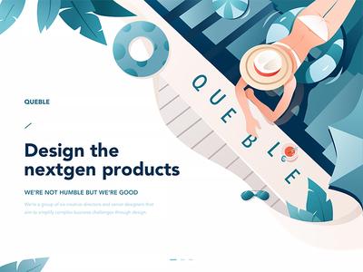 Agency Homepage - Queble edition jenson z. product design ux ui summer queble illustration web design web studio agency design