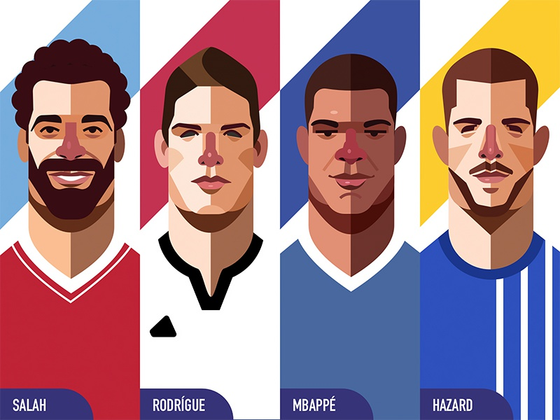 Illustration - World Cup Edition 3 flat world cup 2018 character design illustrator illustration soccer world cup