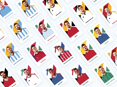 2018 World Cup Character Illustration Combo behance soccer illustrator character illustration world cup