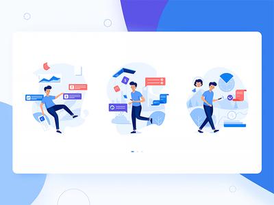 Finance App Onboarding Illustration queble finance branding interface illustration ux ui design app onboarding