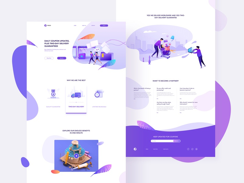E-commerce Web App Design branding flat ux icon typography queble colorful illustrator design web app illustration ui