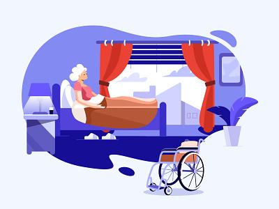 An animation project for a hospital jensonn queble colorful blue illustrator design web app illustration ui