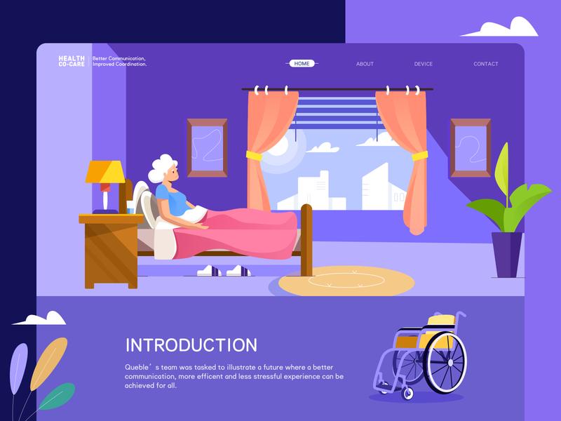 Hospital website design web design jensonn queble colorful illustrator design web app illustration ui