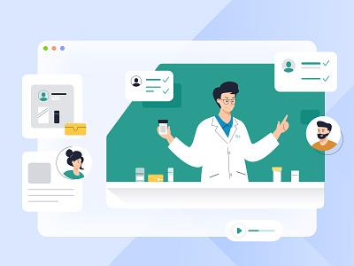 Illustration for Health Co-Care branding icon web design jensonn queble illustrator design web app illustration ui
