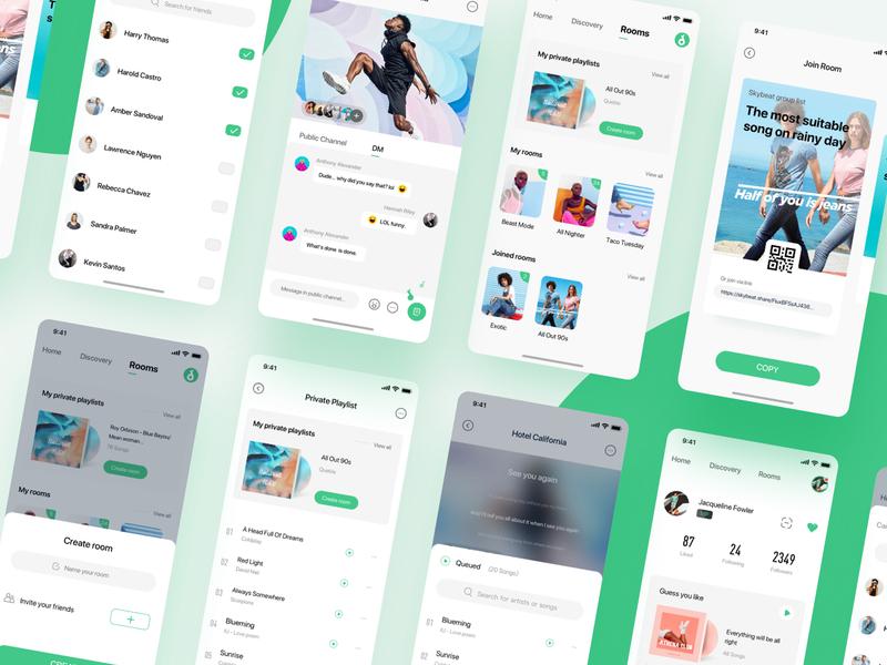 Music App - Skybeat colorful illustration ux web design queble design illustrator web app ui