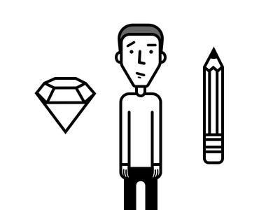 Aligning character illustrations ...