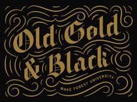 Old Gold & Black