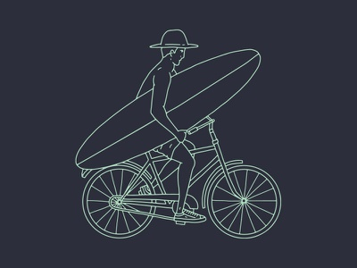 Bicycle bike design bicycle drawing illustration
