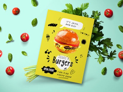 Jamie's Burgers Flyer!! print card business vibe logo hip app vector lettering hipster branding resource design typography quirky typo illustration cartoon typeface font