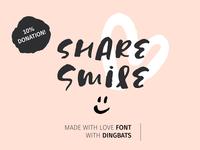 Share Smile - Brush Font + Dingbats
