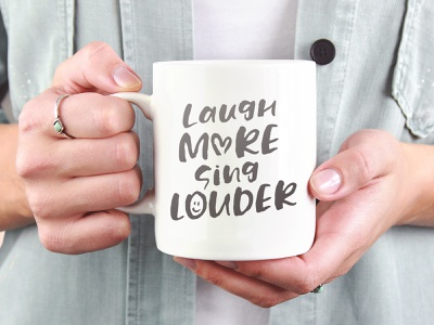 Laugh More, Sing Louder mockup trend 2019 design resource donation font designer font design hand lettered font hand lettering hipster vector resource design branding typography typo typeface font
