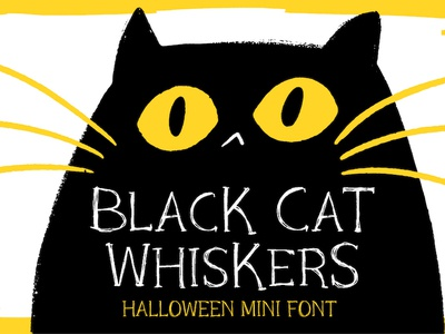 Black Cat Whiskers Font deal sale celebration halloween design resource hip vibe calligraphy business cartoon quirky lettering resource illustration design branding typography typo typeface font