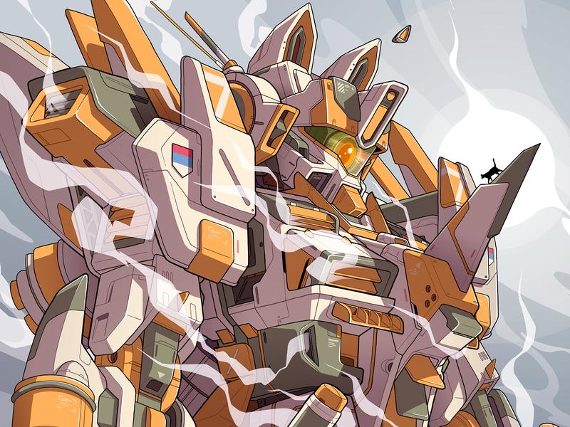 SCS MECHA character cat robot cat smoke macross japan anime comic cartoon gunpla gundam robot art robotics robot mechanic mecha sek sekond