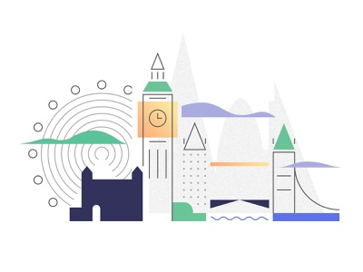 London ui illustration metropolis home page illustration digitalart vector illustraion great britain england parlament sekond sek ferrywheel river parliment big ben tower bridge tower london eye london